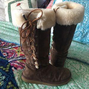Ugg boots chocolate UPSIDE 5163 TALL SHEEPSKIN 7